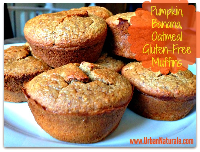 pumpkinbananaoatmealmuffins
