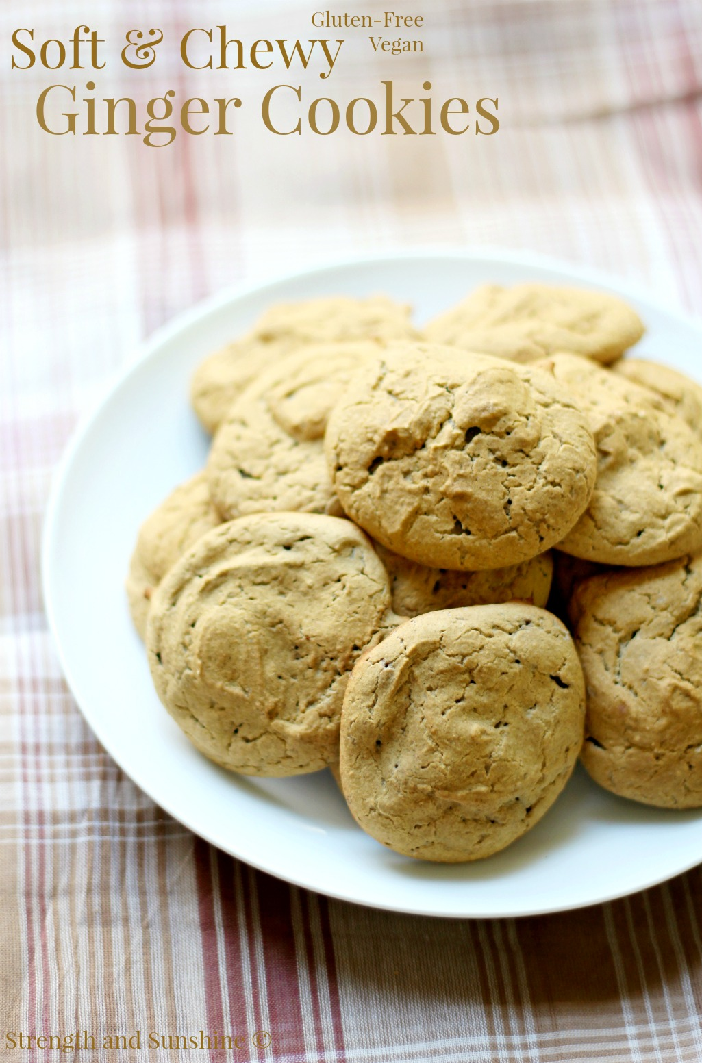 Soft & Chewy Ginger Cookies from Strength & Sunshine: